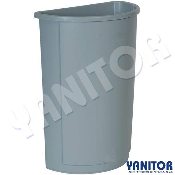 HALF ROUND CONTAINER GRAY